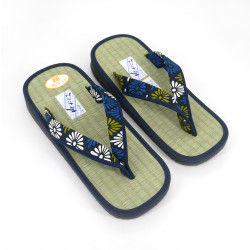 Japanese sandals zori rice straw Goza, PATTERNS, flower