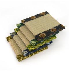 japanese tatami trivet 13 x 13 cm