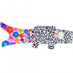 koi carp-shaped windsock - leopardo de nieve