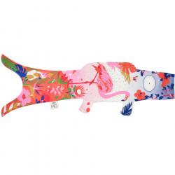 Manga de viento en forma de carpa koi KOINOBORI flamingo