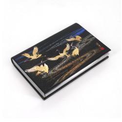 Decorated Japanese rectangular card holder, MIYABI TSURU
