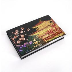 Dekorierter japanischer rechteckiger Kartenhalter, KINKAKUJI