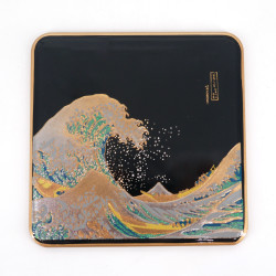 Japanese decorative resin coaster, NAMI
