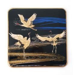 Japanese decorative resin coaster, MIYABI TSURU