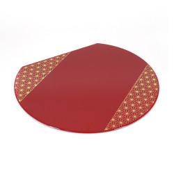 Japanese place mat in red resin, ASANOHA