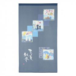 Rideau japonais noren en polyester, KISETSU