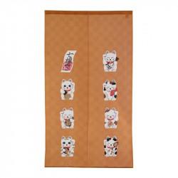 Rideau japonais noren en polyester, SHICHI FUKUNEKO
