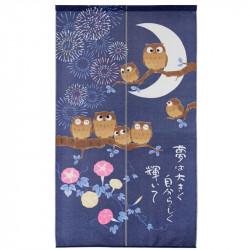 Rideau japonais noren en polyester, YUME WA ÔKIKU