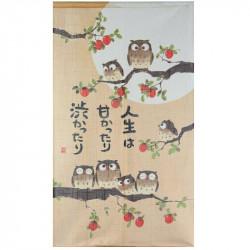 Rideau japonais noren en polyester, AKINO SHICHIFUKURÔ