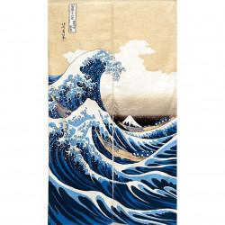 Rideau japonais noren en polyester, KANAGAWA