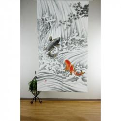 Rideau japonais noren en polyester, KETSUI