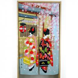 Cortina japonesa de poliéster noren, GEISHA