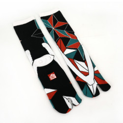 Japanese tabi cotton socks, JIOMETORI