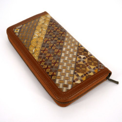 Japanese zippered card holder, YOSEGI NAGAZAIFU