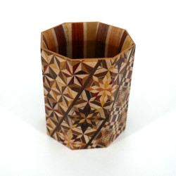 Japanese pencil holder traditional Japanese parquetry YOSEGI