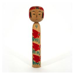 Japanese wooden doll - vintage kokeshi - ZAO