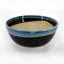 japanese suribachi black and blue bowl Ø19cm TENMOKU