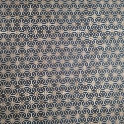 Tessuto giapponese in cotone blu con motivo asanoha, ASANOHA, realizzato in Giappone larghezza 112 cm x 1m