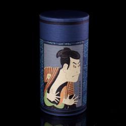 boîte à thé bleue japonaise en papier washi Ukiyo-e BT2020U4
