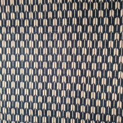 Japanese blue cotton fabric with arrow motif, YAGASURI, made in Japan width 112 cm x 1m