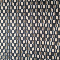 Tessuto giapponese in cotone blu con motivo di frecce, YAGASURI, realizzato in Giappone larghezza 112 cm x 1m