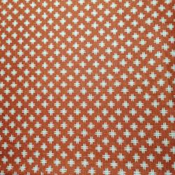 Tessuto giapponese in cotone rosso con motivo a pozzetto, IGETA, realizzato in Giappone larghezza 112 cm x 1m