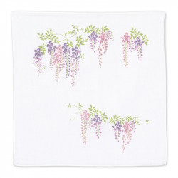 Japanese handkerchief, FUJI, Violet wisteria