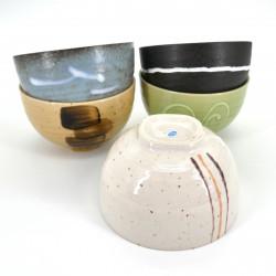 japanese 5 bowls set Ø11,5cm CRAFT