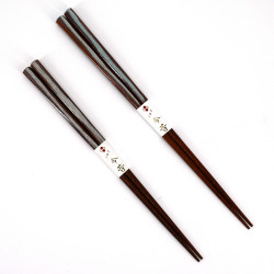 Pair of Japanese chopsticks in natural wood - WAKASA NURI KAORI