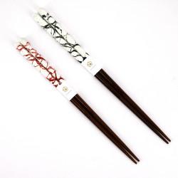 Pair of Japanese chopsticks in natural wood - WAKASA NURI MIGAKIMASU