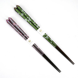 Pair of Japanese chopsticks in natural wood - WAKASA NURI SAKURA