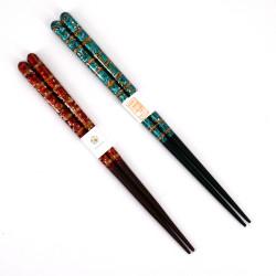 Pair of Japanese chopsticks in natural wood - WAKASA NURI RYU