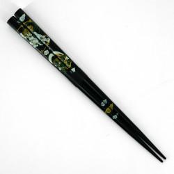 Pair of Japanese chopsticks in natural wood - WAKASA NURI FUJIN RAIJIN