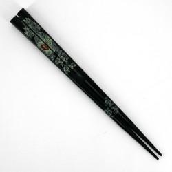 Pair of Japanese chopsticks in natural wood - WAKASA NURI RAION