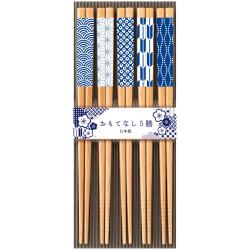 Set di 5 bacchette giapponesi in legno naturale - KISSHO