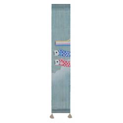 Hemp tapestry, hand painted, AOZORA
