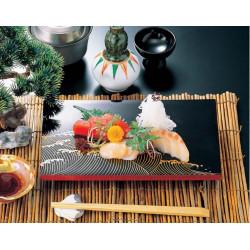 vassoio per sushi, rettangolo, effetto laccato nero, NAMI