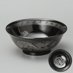 nero giapponese ramen ciotola argento drago argento drago argento KURO UWAGUSURI GIN RYÛMON