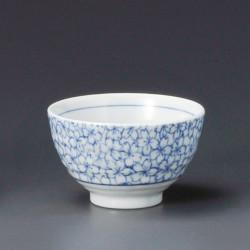 tea cup with sakura flower patterns blue KYÔSAKURA
