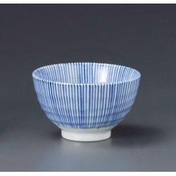 taza de té japonés, SENGAKU TOKUSA SENCHA, lineas azules