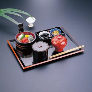 rectangular tray, FUJI NAGATE MOKUME, black