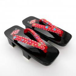 black traditional Japanese footwear GETA for women