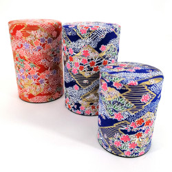Japanese tea box made of washi paper, FLOWER