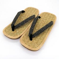 pair of Japanese sandals - Zori straw bamboo for men, SAYAGATA