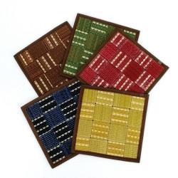 Dessous de plat / théière carré en tatami 16 x 16 cm, BAIKARA