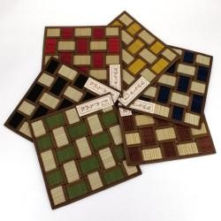 Dessous de plat / théière carré en tatami 22 x 22 cm, BAIKARA