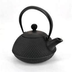 Japanese cast iron teapot from Japan, OIHARU HOJYUARARE 0,5lt, black