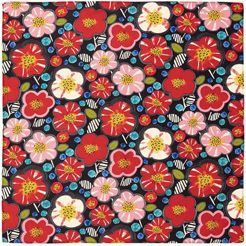 Japanese polyester furoshiki, UME, black