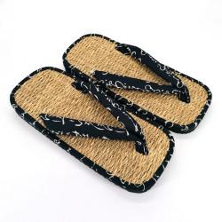 paio di sandali giapponesi zori di erba marina, MOTIFS