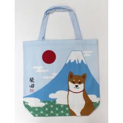 Japanische weiße A4 size Baumwoll-Einkaufstasche, ASANOHA FUJI, Shiba
